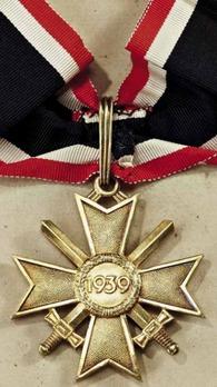 Golden Knight's Cross of the War Merit Cross with Swords, by Deschler Reverse