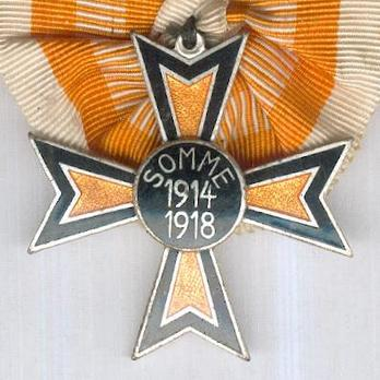 """Somme Cross (stamped """"GES.GESCH"""" 1933-1934) Obverse"""
