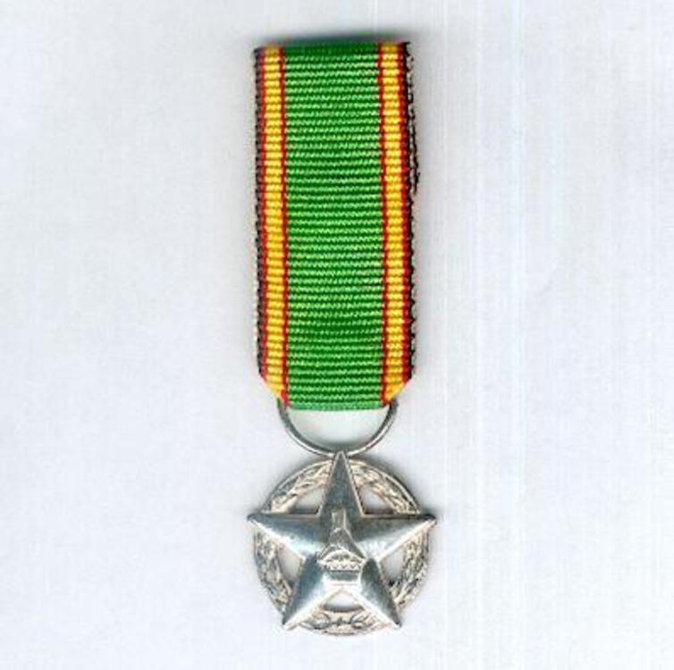 Miniature white medal member military division obv s