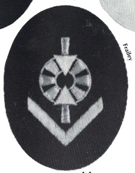 Kriegsmarine Weapons Control Foreman (Artillery/AA/Coastal) Insignia Type II Obverse