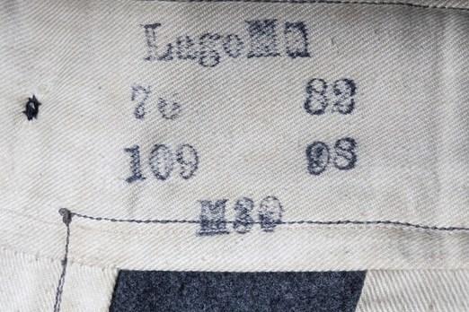 German Army Dress Trousers Maker Mark