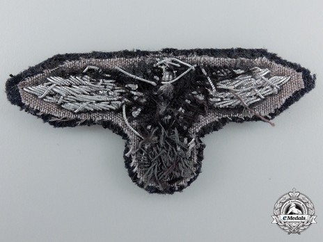 Waffen-SS Officer's Cloth Cap Eagle Reverse
