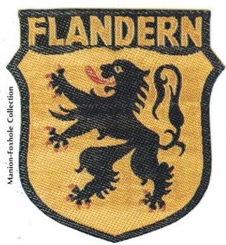 German Army Flanders Sleeve Insignia Obverse