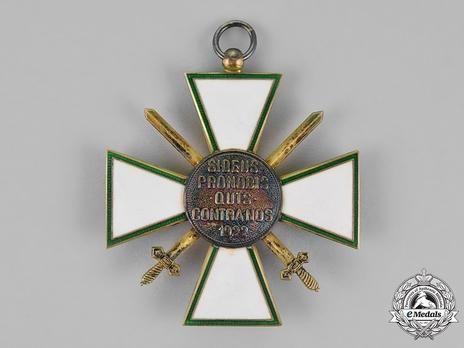 Hungarian Order of Merit, Grand Cross, Military Division Reverse