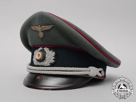German Army Smoke & Chemical Officer's Visor Cap Profile