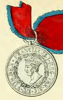Royal Order of Francis I, Medal, in Silver Obverse