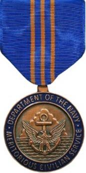 Navy Meritorious Civilian Service Award Obverse