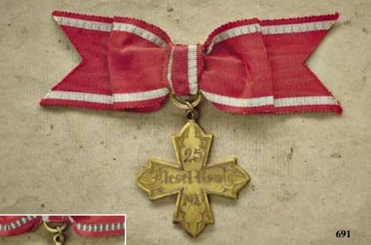 Nursing Long Service Cross in Gilt for 20 Years
