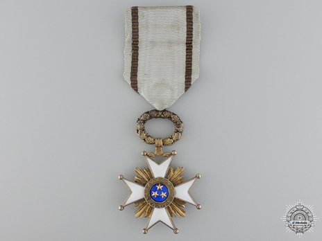 Order of the Three Stars, V Class Obverse