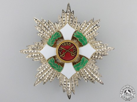 Military Order of Savoy, Type II, Grand Officer Breast Star (in silver) Obverse