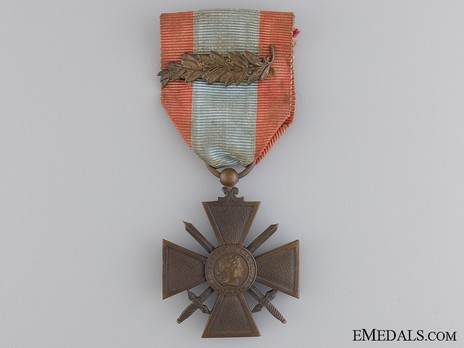 Bronze Cross (with bronze palm clasp) Obverse