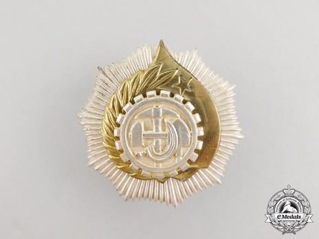 Order of Labour, Type II, III Class (screwback) Obverse