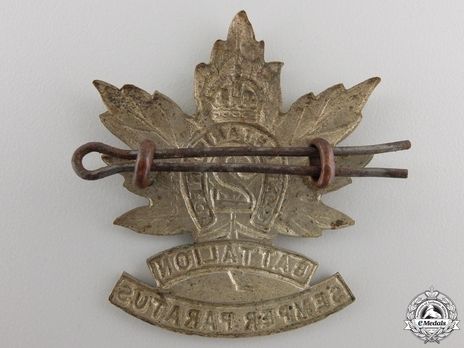 2nd Infantry Battalion Other Ranks Cap Badge Reverse