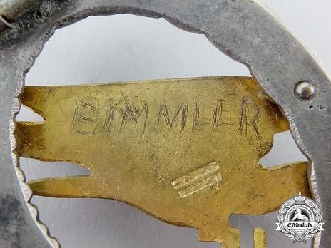 Luftwaffe Paratrooper Badge, by C. E. Juncker (in brass) Detail