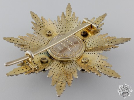 Royal Order of Merit of St. Michael, I Class Cross Breast Star (1855-1918) Reverse
