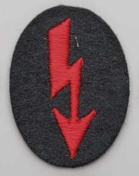 German Army Signals Operators Trade Insignia (Artillery version) Obverse