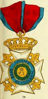 Royal Order of Francis I, Grand Cross (in gold) Obverse