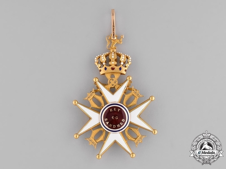 Order of St. Olav, Military Division, Grand Cross Reverse