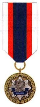 Decoration for Meritorious Policemen, I Class Obverse