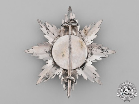 Grand Cross Breast Star (in silver and silver gilt) Reverse