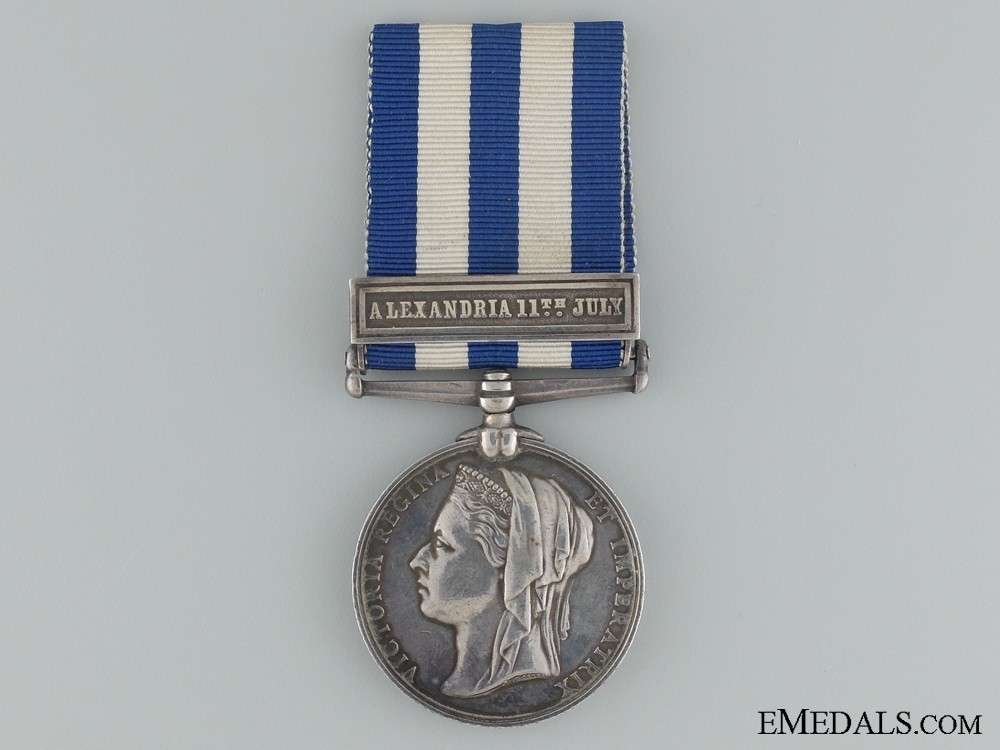 Silver medal with alexandria 11th july clasp obverse