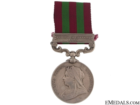 """Silver Medal (with """"RELIEF OF CHITRAL 1895"""" clasp) (1896-1901) Obverse"""