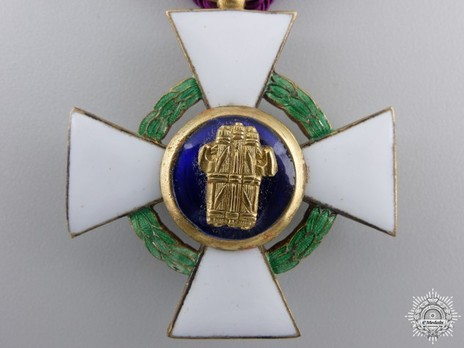 Order of the Roman Eagle, Knight's Cross (with wreath) Reverse