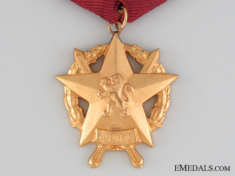 Order of Bravery, III Class (numbered) Obverse