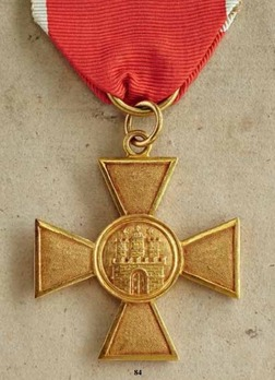 Long Service Cross for 25 Years in Gold (1839)