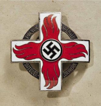 Fire Brigade Honour Badge, I Class (1936-1938) Obverse