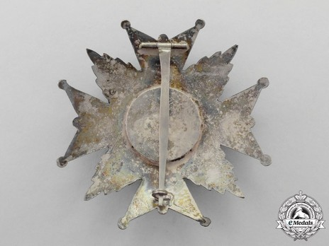 Grand Cross Breast Star (hollow) Reverse