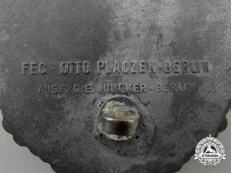 Coastal Artillery War Badge, by C. E. Juncker (in zinc) Detail