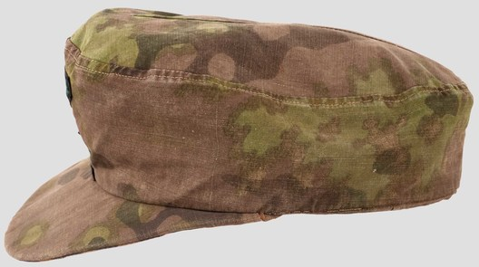 Waffen-SS Camouflaged Field Cap (Lateral Plane Tree pattern) Left