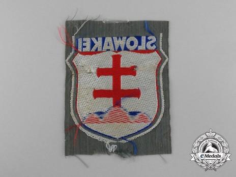German Army Slovakia Sleeve Insignia Reverse