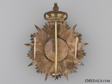Grand Cross Breast Star (Silver gilt and gold) Reverse
