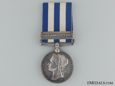 "Silver Medal (with ""ALEXANDRIA 11TH JULY"" clasp) Obverse"