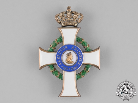 Albert Order, Type II, Civil Division, Officer (pin cross in silver gilt)