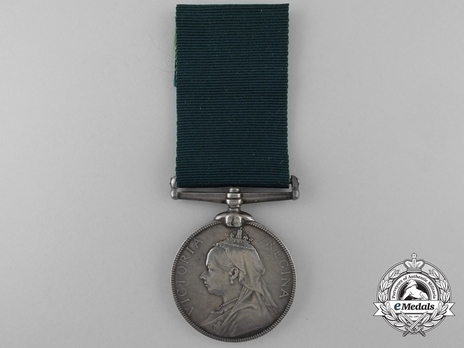 Silver Medal (for United Kingdom recipients, with Queen Victoria effigy) Obverse