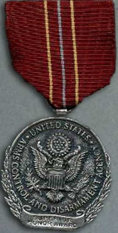 Us arms control and disarmament agency superior honor award medal