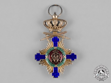 The Order of the Star of Romania, Type I, Military Division, Knight's Cross (peacetime) Reverse