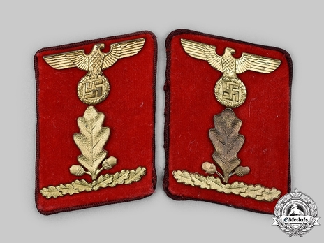 NSDAP Ober-Abschnittsleiter Type IV Gau Level Collar Tabs Obverse
