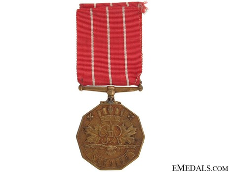 Canadian Forces Decoration, Type I Reverse