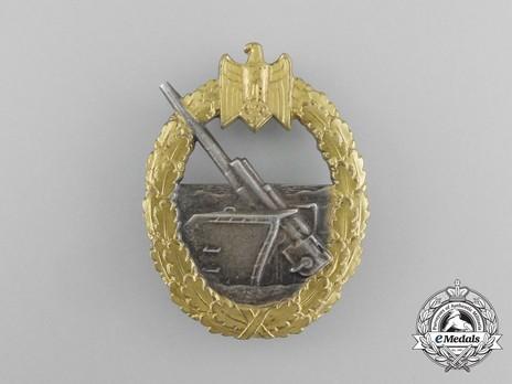 Coastal Artillery War Badge, by C. Schwerin (in tombac) Obverse