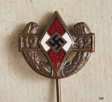 Championship Pin of the Reich Youth Leader, in Bronze Obverse