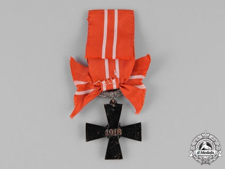Order of the Cross of Liberty, IV Class Cross, Military Division (1918) Reverse