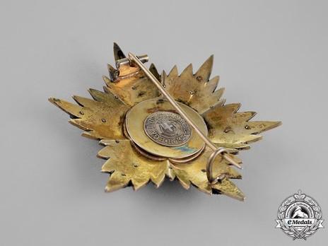 Order of Fidelity, Type II, Grand Cross Breast Star Reverse