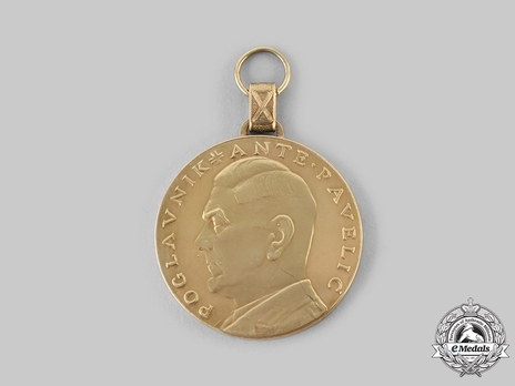 Ante Pavelic Gold Bravery Medal