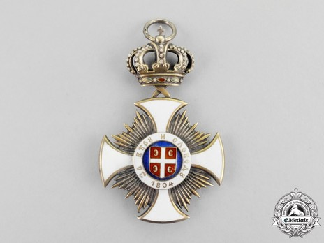 Order of the Star of Karageorg, Civil Division, I Class Obverse