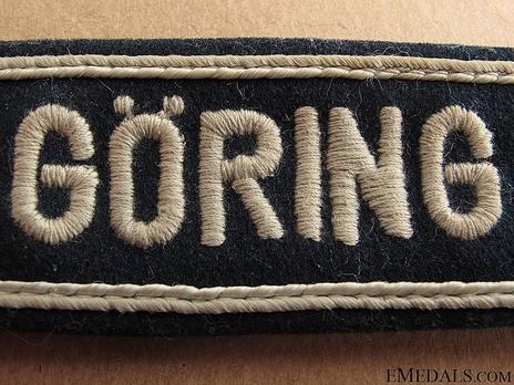 Luftwaffe Hermann Göring Cuff Title (Officer version) Obverse Detail