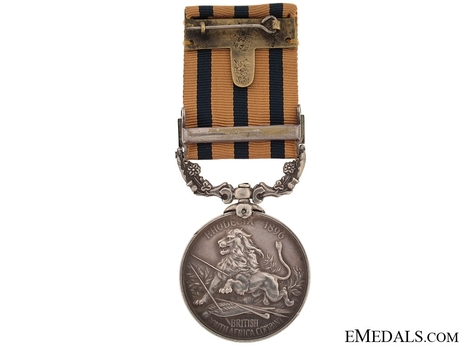 "Silver Medal (for Rhodesia 1896, with ""MASHONALAND 1897"" clasp) Reverse"